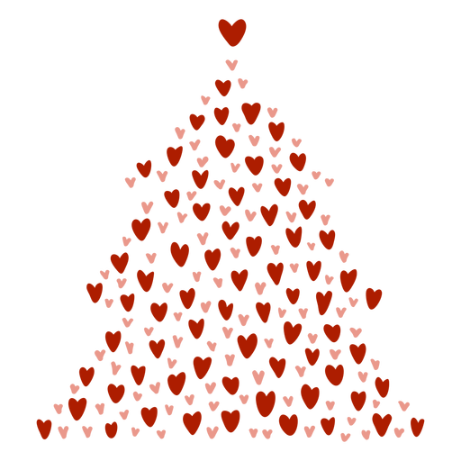 Christmas tree hearts Transparent PNG