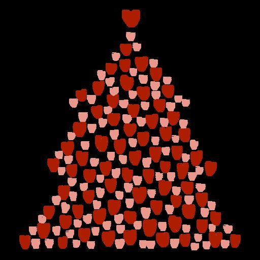 Corazones de arbol de navidad