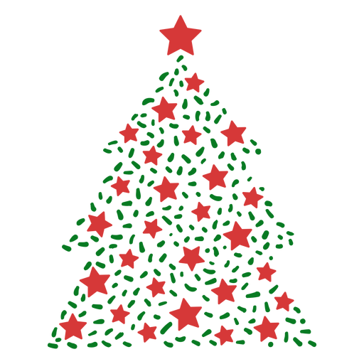 Christmas tree lines Transparent PNG