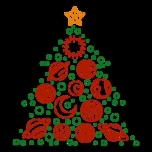 Planetas árvore de natal