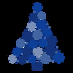 Copos de nieve del árbol de navidad