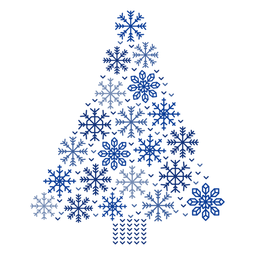 Christmas tree snowflakes Transparent PNG