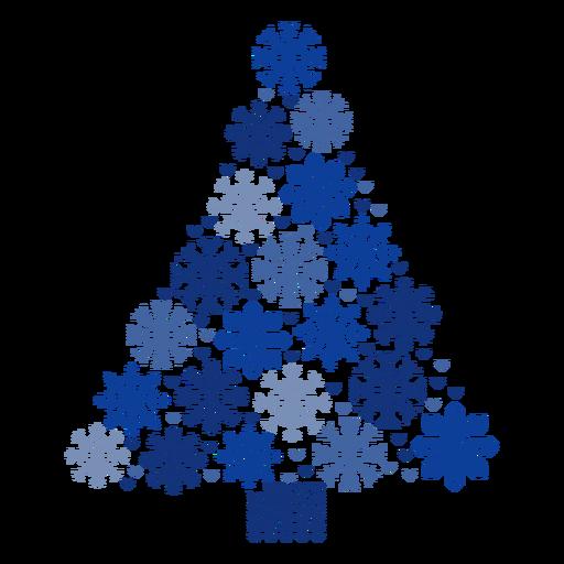 Copos de nieve del árbol de navidad Transparent PNG