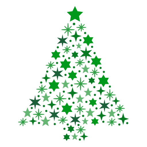 Christmas tree stars Transparent PNG