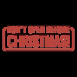 Letras de carimbo de aviso de Natal