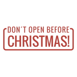 Letras de sello de advertencia de Navidad