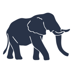Elephant side view