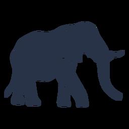 Vista lateral do elefante