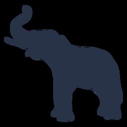 Vista lateral del elefante baúl
