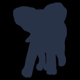 Elefante caminando a la izquierda