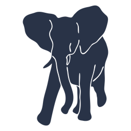 Elephant walking left