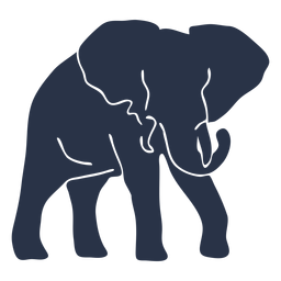 Elefant geht nach rechts