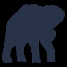 Elefante andando para a direita