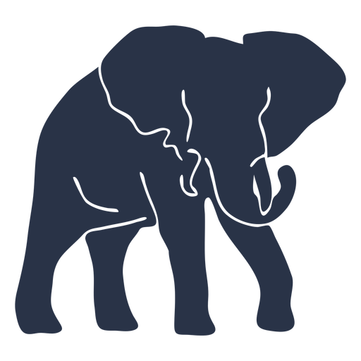 Elephant walking right