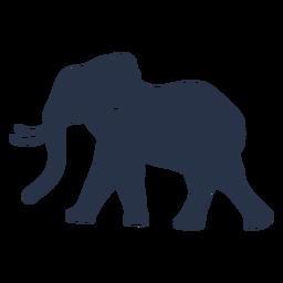 Elefant wolking Seitenansicht