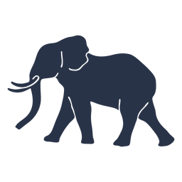 Elephant wolking side view
