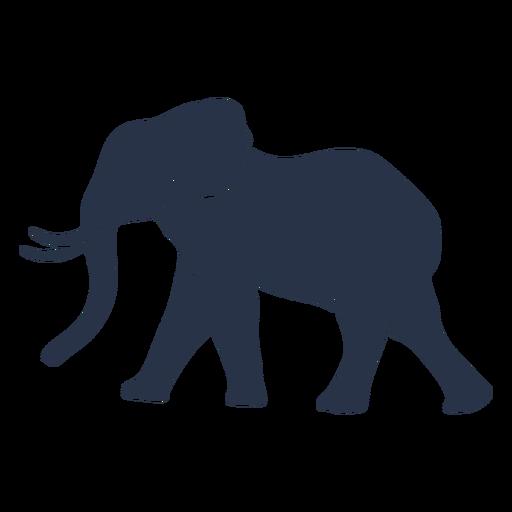 Vista lateral de elefante wolking
