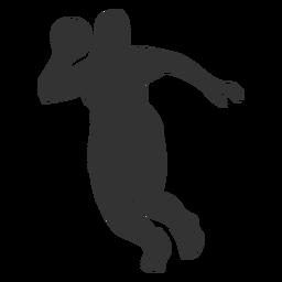 Silhueta de salto de handebol feminino