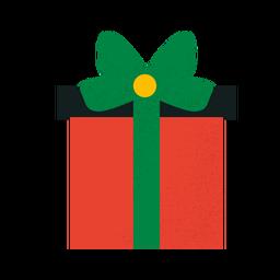 Caja de regalo con textura plana