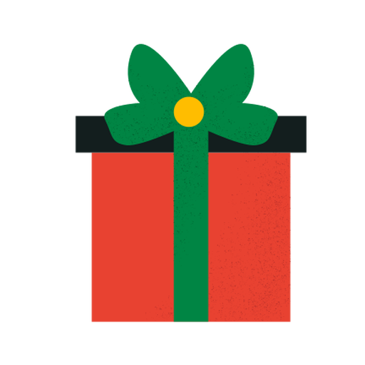 Gift box textured flat Transparent PNG