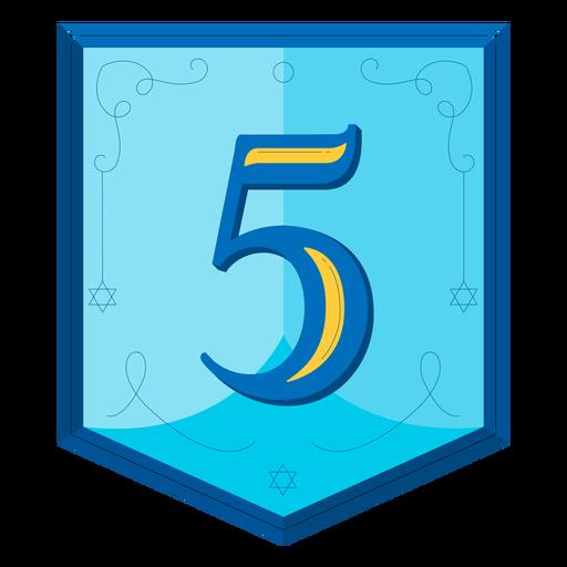 Guirnalda de Hanukkah números cinco Transparent PNG