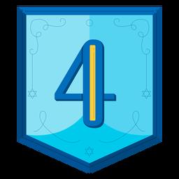 Guirnalda de Hanukkah números cuatro