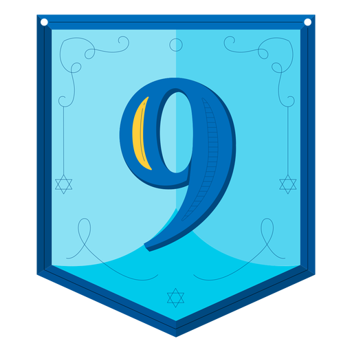 Guirnalda de Janucá números nueve Transparent PNG