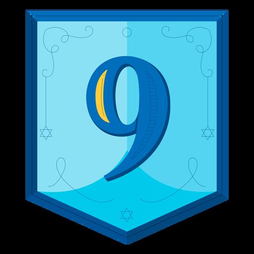 Hanukkah garland numbers nine Transparent PNG