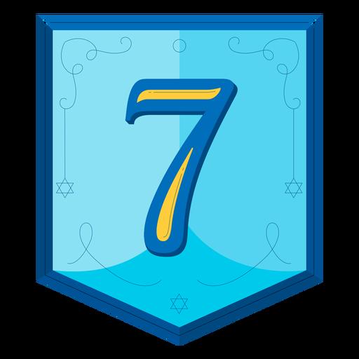 Guirnalda de Janucá números siete Transparent PNG
