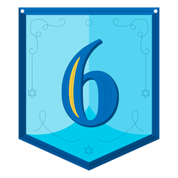 Guirnalda de Hanukkah números seis