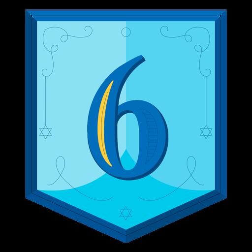 Guirnalda de Hanukkah números seis Transparent PNG