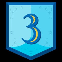 Guirnalda de Hanukkah números tres