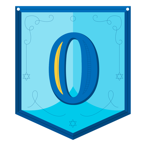 Guirnalda de Janucá números cero Transparent PNG