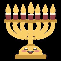 Candelabro de Hanukkah cor bonito