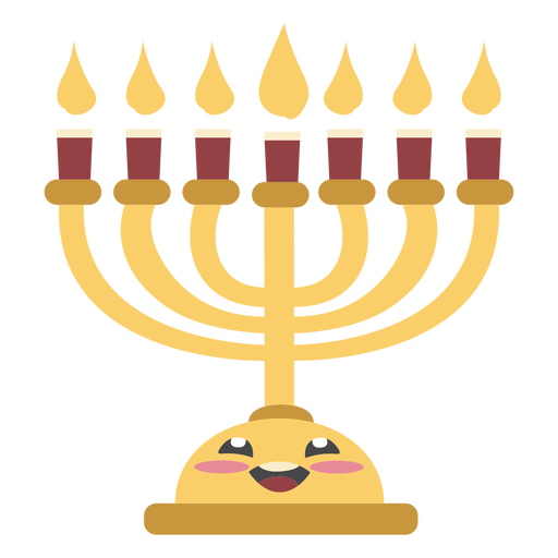 Hanukkah lampstand cute color
