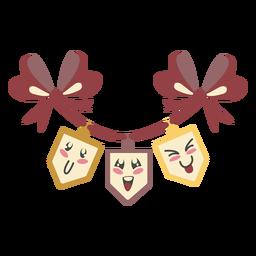 Galhardete de Hanukkah bonito cor