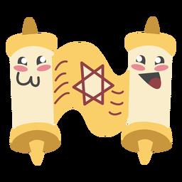 Pergamino de Hanukkah lindo color
