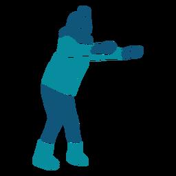 Personagem de jogos de inverno garoto