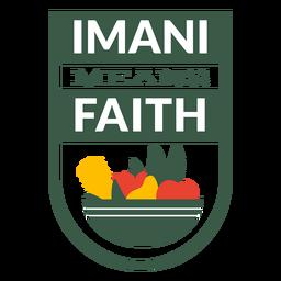 La insignia de Kwanzaa imani significa letras de fe