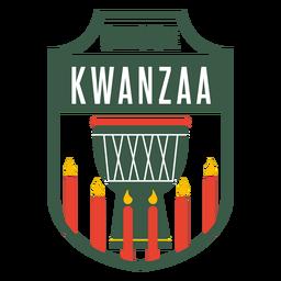 Kwanzaa badges celebrate lettering