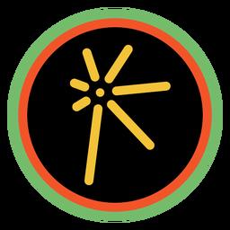 Kwanzaa emblemas cuumba escuro