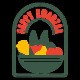 Kwanzaa insignias frutas letras