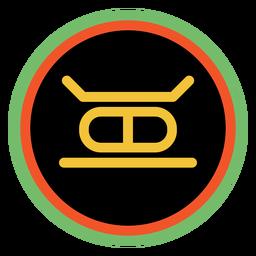 Emblemas kwanzaa kujichagulia escuro