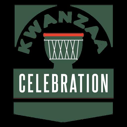 Insignias de kwanzaa letras de celebración de kwanzaa