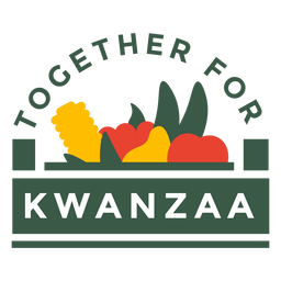 Kwanzaa badges together for kwanzaa lettering