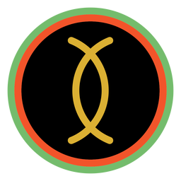 Kwanzaa Abzeichen Ujamaa dunkel