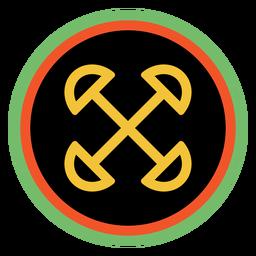 Kwanzaa emblemas ujima escuro