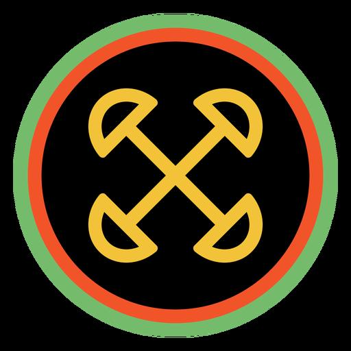 Kwanzaa badges ujima dark Transparent PNG