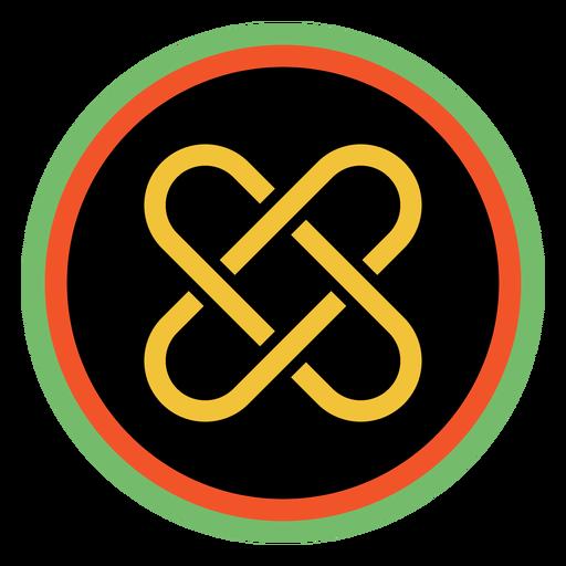 Kwanzaa badges umoja dark Transparent PNG