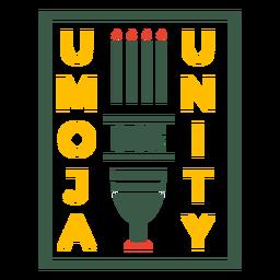Kwanzaa bage umoja significa letras de banderas de unidad